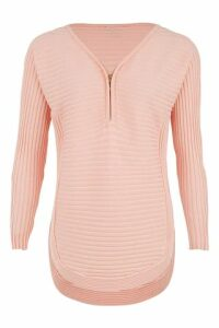 Zip Front ribbed Jumper