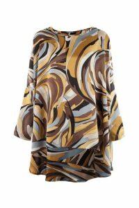 Swirl Print Tunic Top