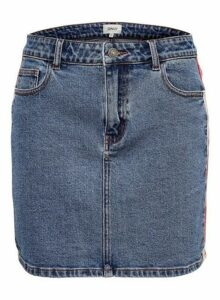 Womens Only Mid Wash Denim Skirt - Blue, Blue