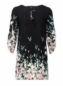 Womens *Izabel London Black Border Print Shift Dress, Black