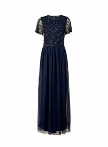 Womens Showcase Tall Navy Tina Maxi Dress - Blue, Blue