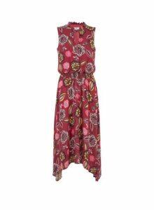 Womens Billie & Blossom Tall Pink Floral Print Shirred Dress, Pink