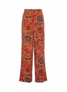 Womens Tall Red Printed Palazzo Trousers, Red
