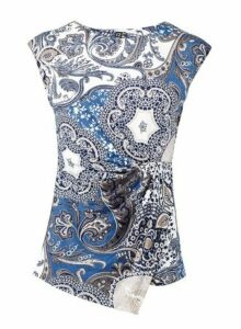 Womens *Izabel London Blue Eastern Print Top, Blue