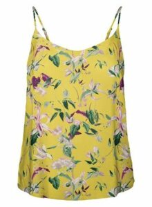 Womens Vero Moda Yellow Floral Print Camisole Top, Yellow
