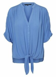 Womens Vero Moda Blue Tie Front Blouse, Blue