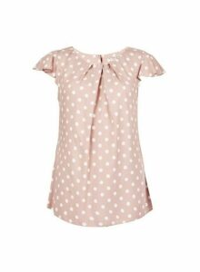 Womens **Billie & Blossom Rose Spot Print Shell Top- Pink, Pink
