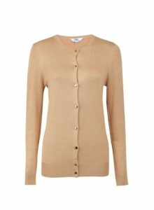 Womens **Tall Camel Cardigan- Cream, Cream