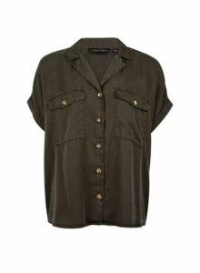Womens Green Short Sleeve Shirt, Green