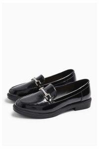 Womens Logan Pu Loafers - Black, Black