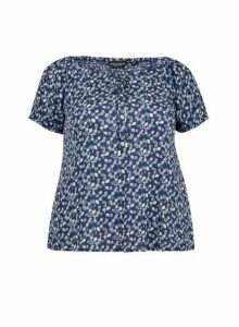 Womens **Dp Curve Navy Gypsy Top- Blue, Blue