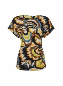 Womens Multi Colour Swirl Print Tee, Multi Colour