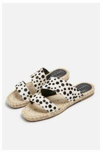 Womens Hannah Black And White Espadrille Sandals - Monochrome, Monochrome