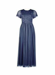 Womens **Showcase Petite Dark Grey 'Tina' Maxi Dress, Grey
