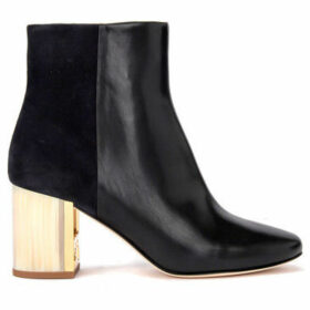 Tory Burch  Trie Burch Gigi model ankle boots in black leather and  women's Low Ankle Boots in Black