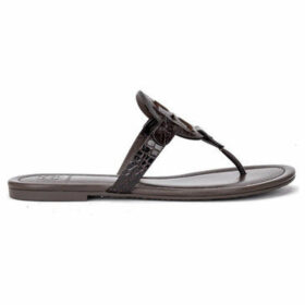 Tory Burch  Miller sandal in brown leather with croc print  women's Sandals in Brown