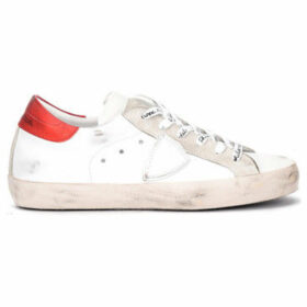 Philippe Model Paris  Paris sneaker made of white and red leather  women's Shoes (Trainers) in White