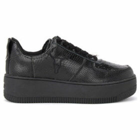 Windsor Smith  Racerr sneaker made of black leather with python print  women's Shoes (Trainers) in Black