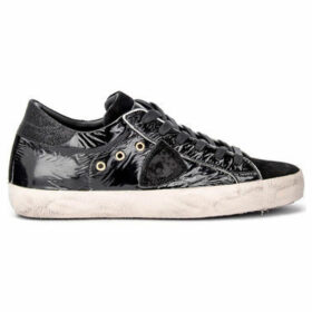 Philippe Model Paris  Paris sneaker in black leather with suede  women's Shoes (Trainers) in Black
