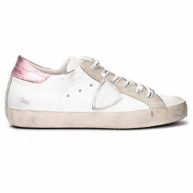 Philippe Model Paris  Paris sneaker in white and metallic pink leather  women's Shoes (Trainers) in White