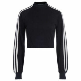 Y-3  black crewneck sweatshirt with white side stripes  women's Sweatshirt in Black