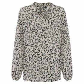 French Connection  Floral Print Blouse  women's Shirt in White