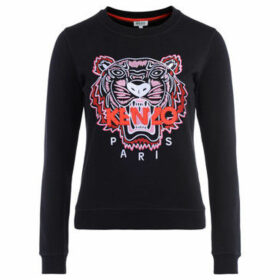 Kenzo  Tigre black sweatshirt with multicolored embroidery and red  women's Sweatshirt in Black