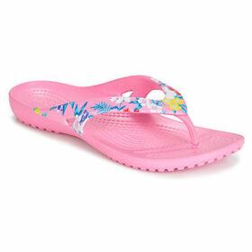 Crocs  KADEE II PRINTED FLIP W  women's Flip flops / Sandals (Shoes) in Pink