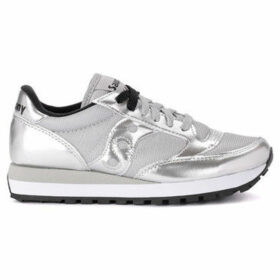 Saucony  Jazz silver metalleather and fabric sneaker  women's Shoes (Trainers) in Silver