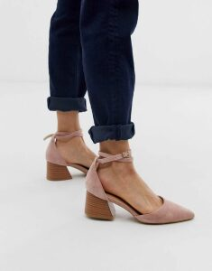 RAID Ramira blush heeled shoes with stacked heel-Beige