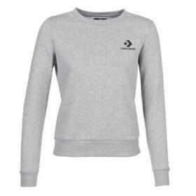 Converse  STAR CHEVRON EMBROIDERED CREW  women's Sweatshirt in Grey