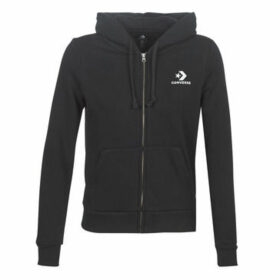 Converse  STAR CHEVRON EMBROIDERED FZ HOODIE  women's Sweatshirt in Black