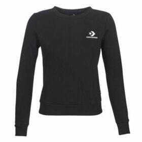Converse  STAR CHEVRON EMBROIDERED CREW  women's Sweatshirt in Black