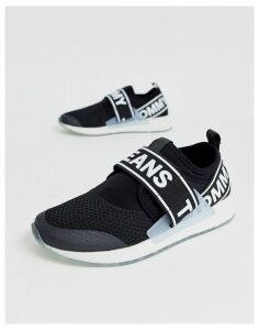 Tommy Jeans logo tape trainers-Black