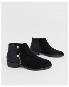 New Look chelsea flat ankle boots in black
