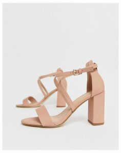 New Look heeled sandals in pink