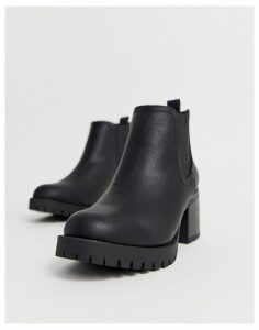 New Look heeled chelsea boots in black
