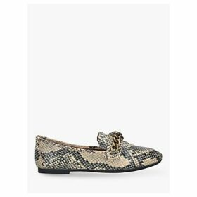Kurt Geiger London Chelsea Snake Leather Loafers, Black/Multi