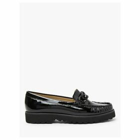 John Lewis & Partners Genece Leather Chain Trim Loafers