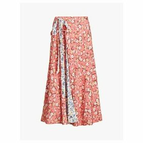 Polo Ralph Lauren Reversible Floral Print Maxi Skirt, Blush/Multi