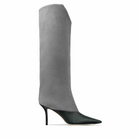 BRELAN 85 Dusk Calf Leather and Suede Knee-High Boots