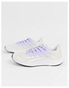 Nike Running zoom rival fly trainers in white