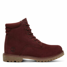 Timberland Waterville 6 Inch Boot For Women In Burgundy Burgundy, Size 9