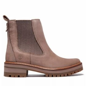 Timberland Courmayeur Valley Chelsea Boot For Women In Taupe Taupe, Size 6