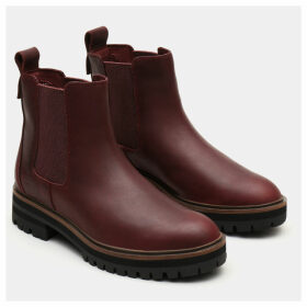 Timberland London Square Chelsea For Women In Burgundy Burgundy, Size 9