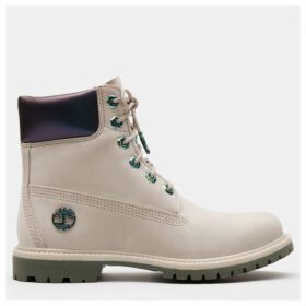 Timberland 6 Inch Iridescent Premium Boot For Women In Beige Beige, Size 5.5