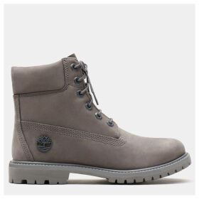 Timberland 6 Inch Premium Boot For Women In Grey Grey, Size 8
