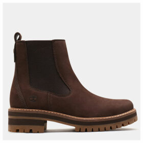 Timberland Courmayeur Valley Chelsea Boot For Women In Dark Brown Dark Brown, Size 8