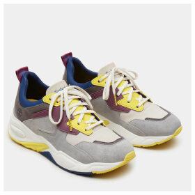 Timberland Delphiville Leather Sneaker For Women In Beige Beige, Size 7.5
