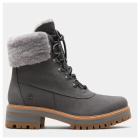 Timberland Courmayeur Valley 6 Inch Shearling Boot For Women In Grey Grey, Size 9